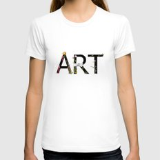 ART Womens Fitted Tee White LARGE