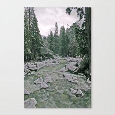 Yosemite Cold River Canvas Print
