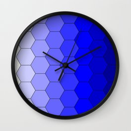 Hexagons (Blue) Wall Clock