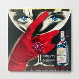 Rare 1962 Jose Cuervo Tequila Advertisement Poster Metal Print