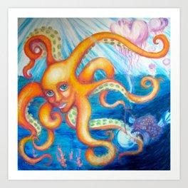 Sea Creatures Art Print