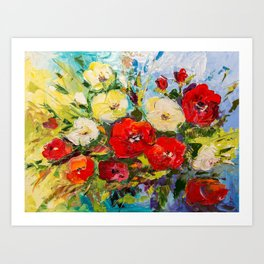 Bright bouquet Art Print
