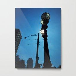 Sunlight Street Lamp Metal Print