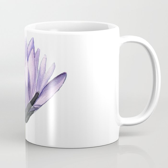 Purple Water Lily in Watercolor Coffee Mug