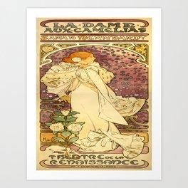 Vintage poster - La Dame Aux Camelias Art Print