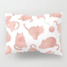 Cat Pattern Rose Gold Kitty Cats Pillow Sham