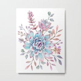 succulent watercolor 13 Metal Print