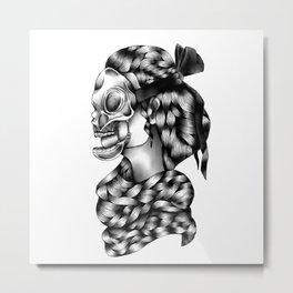 Mask. Metal Print
