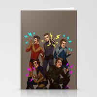 kendrawcandraw Stationery Cards featuring Superlads by kendrawcandraw