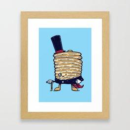 Fancy Captain Pancake Framed Art Print