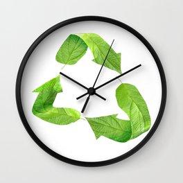 "Ecology friendly symbol ""Go green"" Wall Clock"