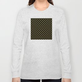Art Deco: San Francisco Glitter-Gold and Black Long Sleeve T-shirt