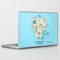 gemma correll Laptop & iPad Skins featuring A Map of the Introvert's Heart by gemma correll