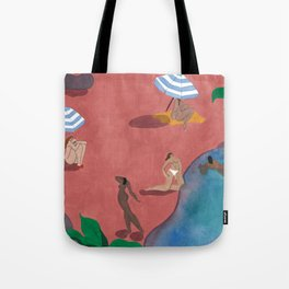 Pink Beach Tote Bag