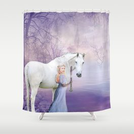 snow princess Shower Curtain