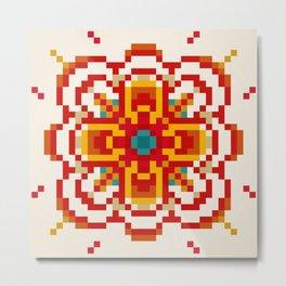 pixel flower Metal Print