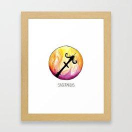 Sagittarius Zodiac Sign Framed Art Print