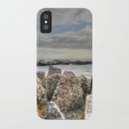 Sunset at shore iPhone Case