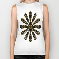 floral pattern Biker Tanks featuring Floral Pattern by Christina Rollo