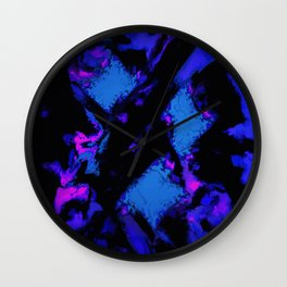 Breathing the deep blue Wall Clock