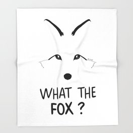 What the fox ? Throw Blanket