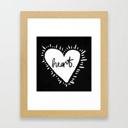 Heart. Framed Art Print