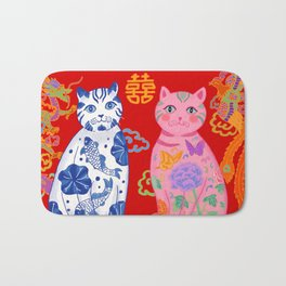 Double Happiness: When Ming Meets Qing Bath Mat