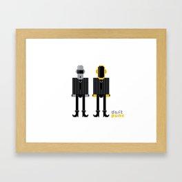 Pixel Daft Punk Framed Art Print