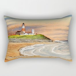 Montauk Point Lighthouse East Hampton New York Rectangular Pillow