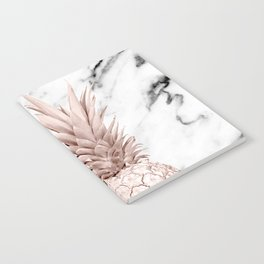 Pineapple Rose Gold Marble Notebook