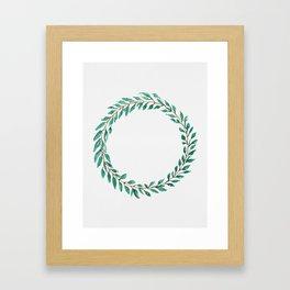 Green Wreath Framed Art Print