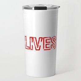 "A Lefty Tee For Left Handed People Saying ""Lefty Lives Matter"" T-shirt Design Rare People Unique Travel Mug"