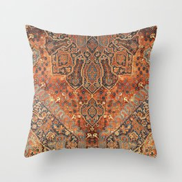 Golden Oriental Vintage Traditional Moroccan Style Throw Pillow