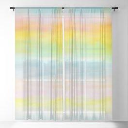 Rainbow Gradient - tie dye loved by unicorns Sheer Curtain