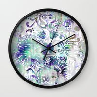 fairy tail Wall Clocks featuring Fairy Tail by Marta Olga Klara