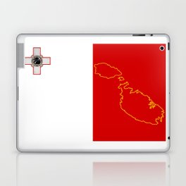 Malta Flag with Map of the Maltese Islands Laptop & iPad Skin