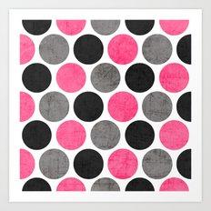cosmopolitan polka dots Art Print