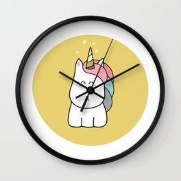 Cute Kawaii Unicorn Wall Clock