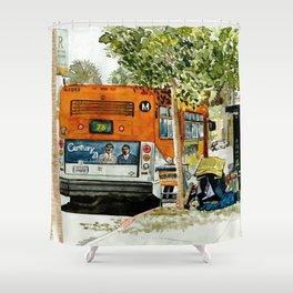 Homeless Series 5 ~ Sunset Blvd., Los Angeles, CA. Shower Curtain