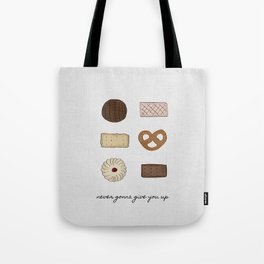 Never Gonna Give You Up Tote Bag