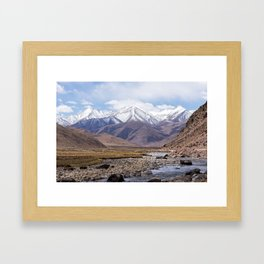 Tibet typical mountain landscape Framed Art Print