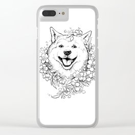 Color-Me Canine: Shiba inu Clear iPhone Case