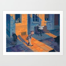 All Over Town Art Print