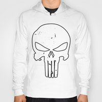 punisher Hoodies featuring The Punisher by sokteulu