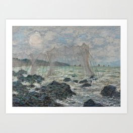 Fishing Nets at Pourville Art Print