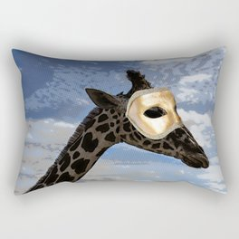 The Masked Giraffe Rectangular Pillow