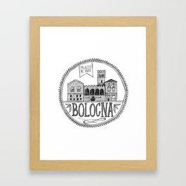 Palazzo Re Enzi, Bologna Framed Art Print