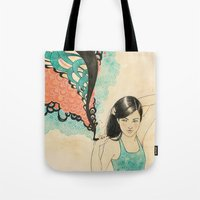 swim Tote Bags featuring swim by Laura Graves