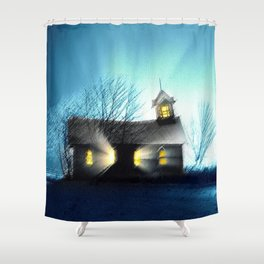 Abandoned Church within the Scituate Reservoir - Scituate, Rhode Island Landscape by Jeanpaul Ferro Shower Curtain