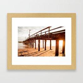Goleta pier Framed Art Print